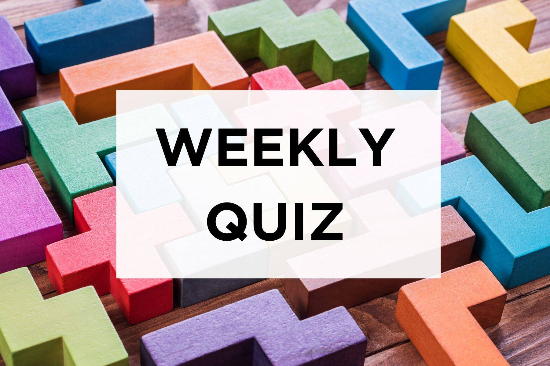Weekly Lockdown Quiz Image